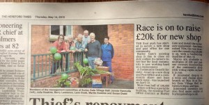 Article in The Hereford Times, May 14